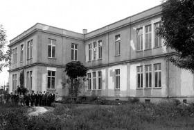 Vista de la Antigua Escuela de Ciencias Químicas, en Tacuba