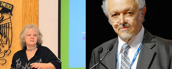 Ada Yonath y Mario Molina