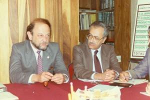 Oficina de Campaña con Exrector Dr. José Sarukhan y Presidente de la 1er. Campaña el Ing. Benito Bucay