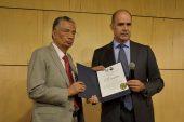 Ceremonia de develación de placa y agradecimiento al Ing. José Luis Mendoza Monroy