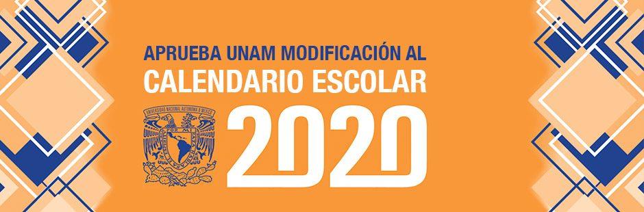 Banner calendario escolar 2020
